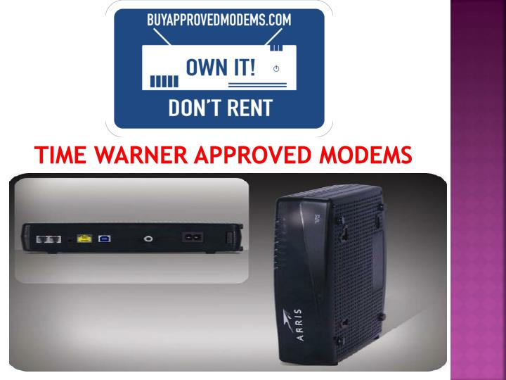 time warner approved modems n.