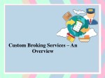 custom broking services an overview