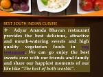 best south indian cuisine 1