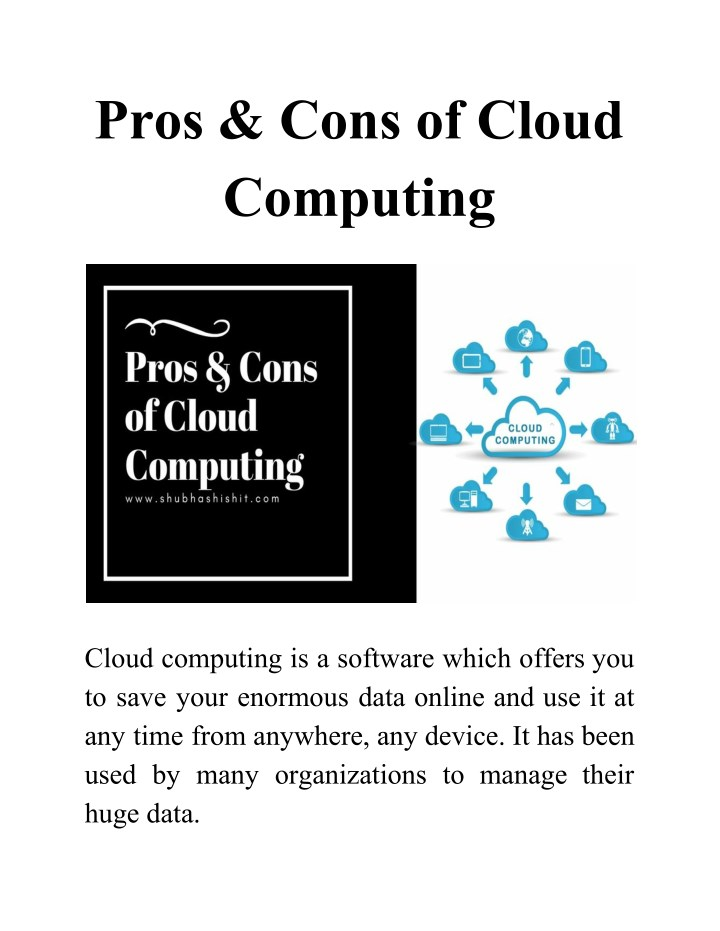 pros cons of cloud computing n.
