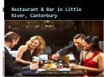 restaurant bar in little river canterbury