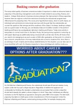 banking courses after graduation banking courses
