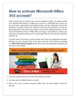 how to activate microsoft office 365 account