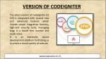 version of codeigniter