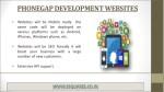 phonegap development websites