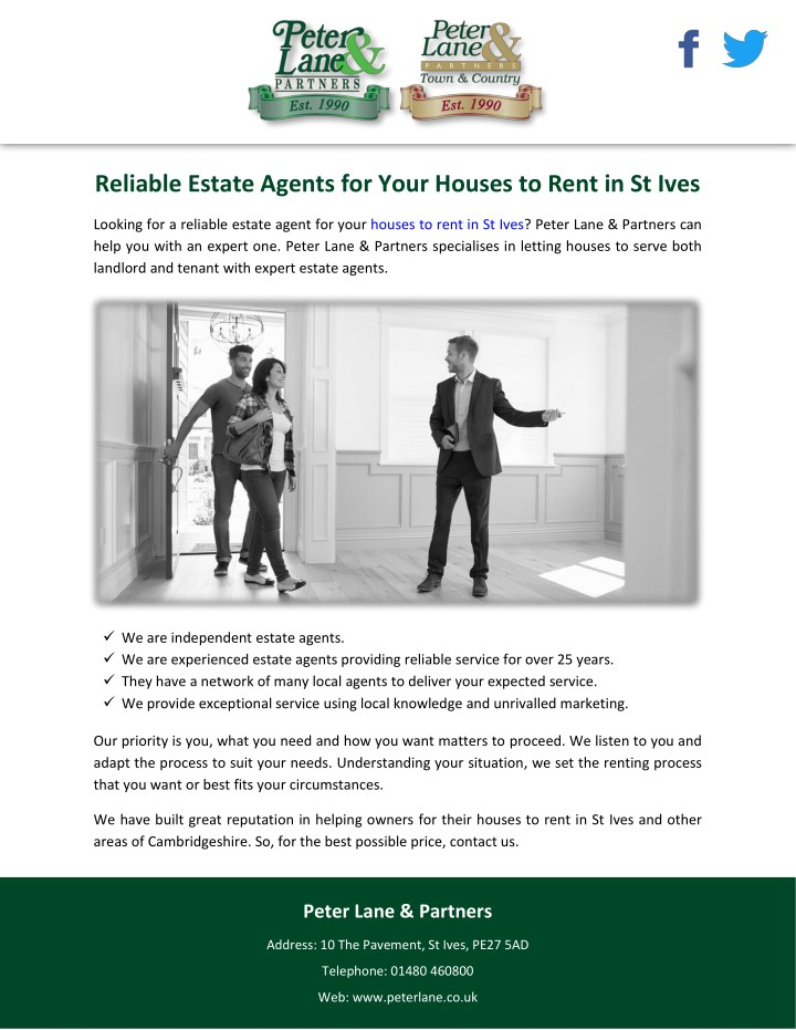 reliable estate agents for your houses to rent n.