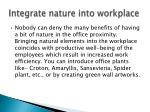 integrate nature into workplace