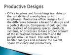 productive designs