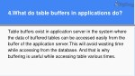 4 what do table buffers in applications do
