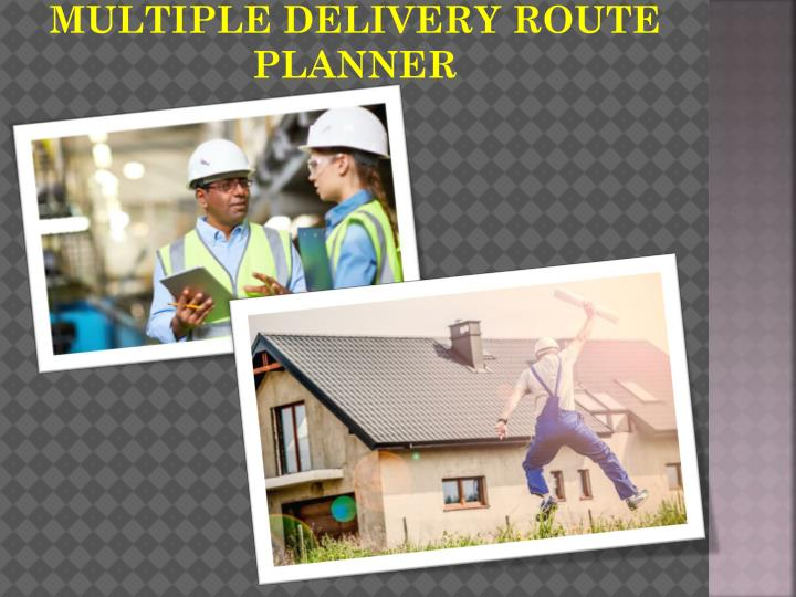 multiple delivery route planner n.