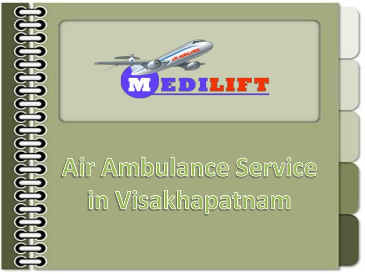 air ambulance service in visakhapatnam n.