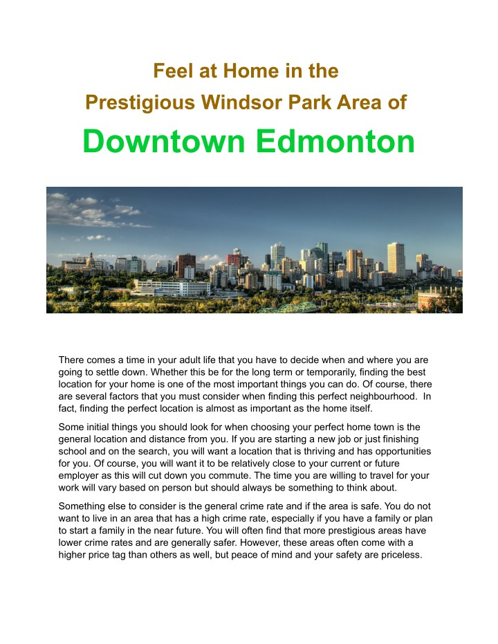 feel at home in the prestigious windsor park area n.