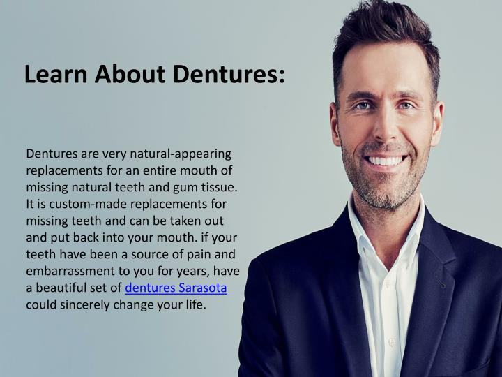 learn about dentures n.