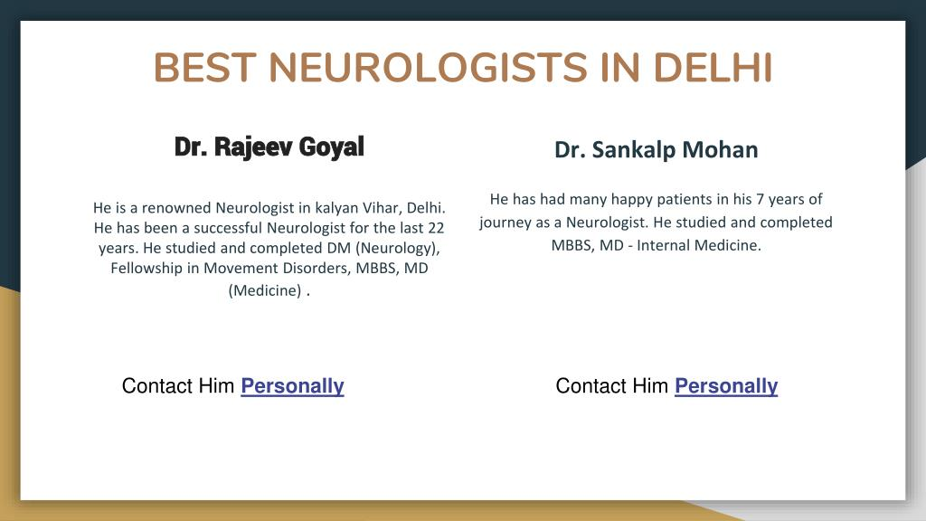 PPT - Neurologist in Delhi - Book Instant Appointment, Consult
