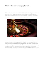 what is online casino free signup bonus