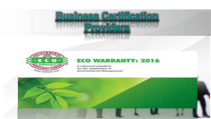 business certification providers n.
