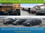 zurich airport car services chauffeur with sedan limousine van and minibus