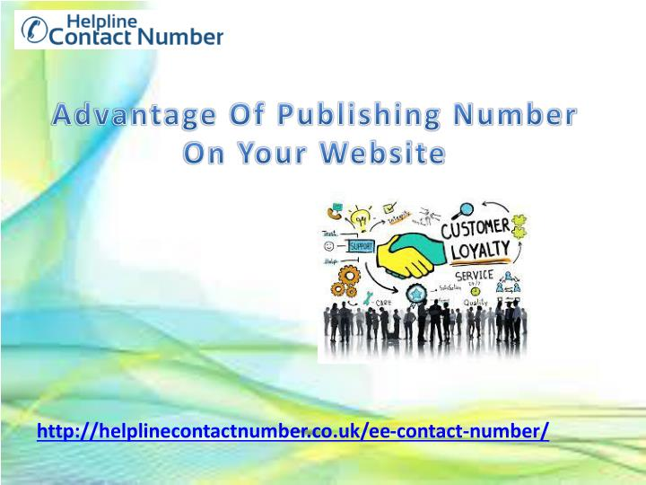 advantage of publishing number on your website n.