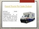 food truck for sale dubai