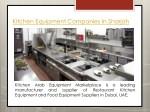 kitchen equipment companies in sharjah