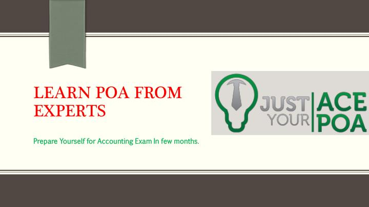 learn poa from experts n.