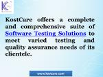 kostcare offers a complete and comprehensive