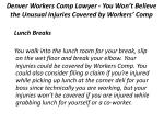 denver workers comp lawyer you won t believe the unusual injuries covered by workers comp 3