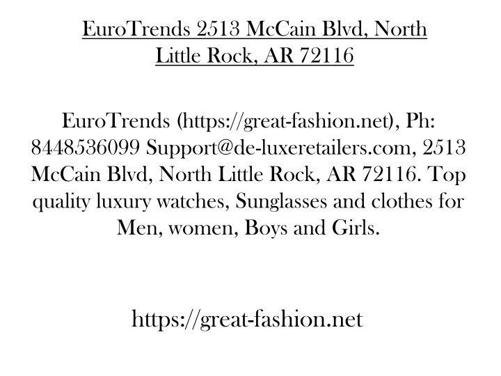 eurotrends 2513 mccain blvd north little rock n.