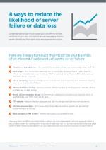 8 ways to reduce the likelihood of server failure