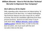 william almonte how to pick the best technical recruiter to represent your company 4