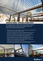 aerotech series openi ng louvred roof