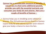 quinoa has a considerable measure of benefits
