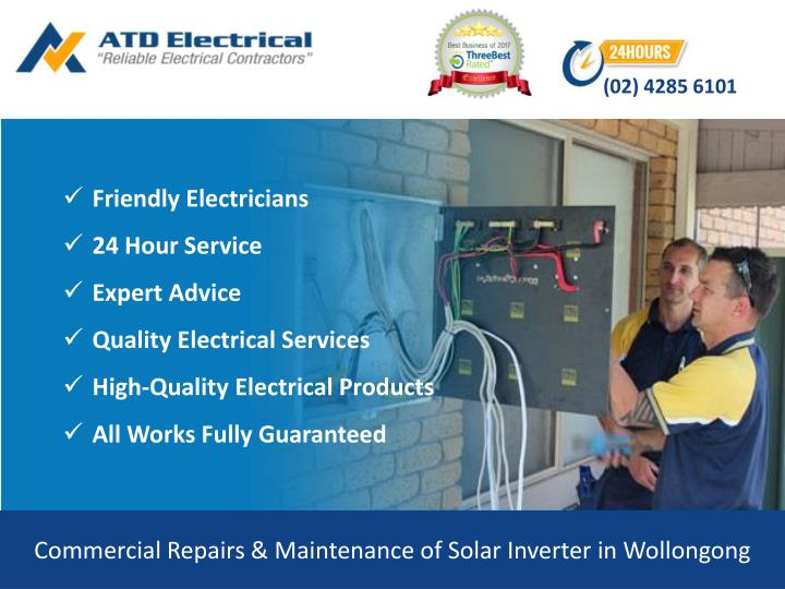 commercial repairs maintenance of solar inverter in wollongong n.