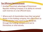 tax efficient reinvestment another important