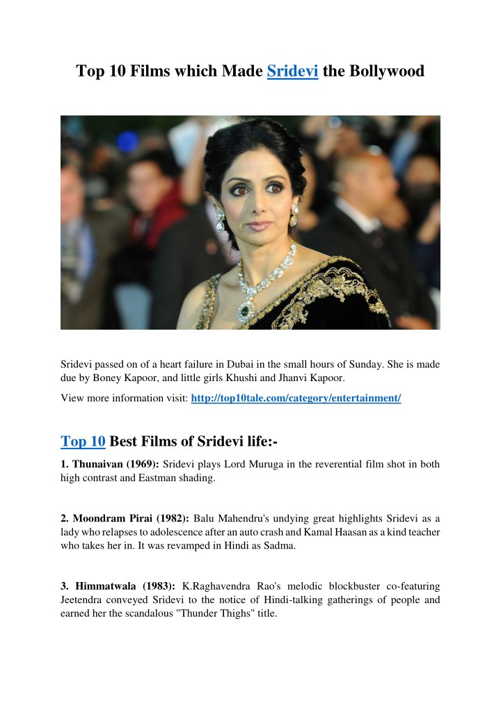 top 10 films which made sridevi the bollywood n.
