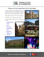 things to do for family days out in cambridge