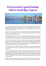 find yourself a great holiday villa in coral