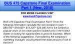 bus 475 capstone final examination part 1 new 2018