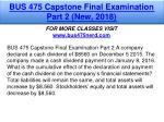 bus 475 capstone final examination part 2 new 2018