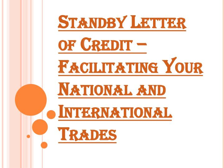 PPT - Meaning of Standby Letter of Credit PowerPoint