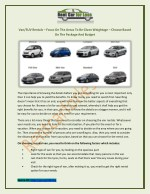 van suv rentals focus on the areas to be given