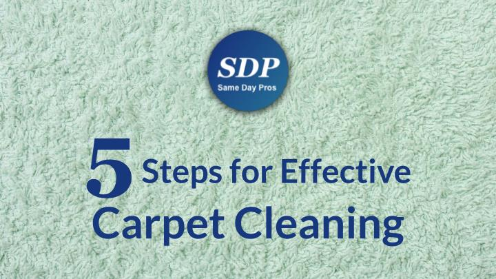 5 steps for effective carpet cleaning n.