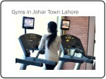 gyms in johar town lahore