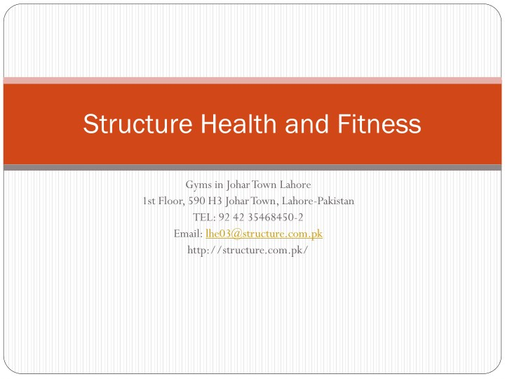 structure health and fitness n.