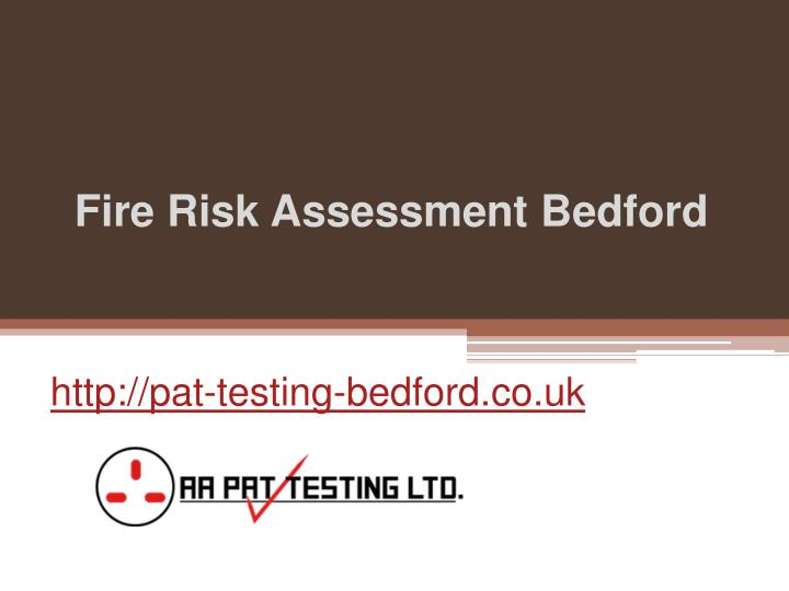 fire risk assessment bedford n.