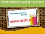 cis 115 successful learning cis115 com