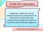 garage door c able repair