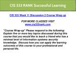 cis 333 rank successful learning 27