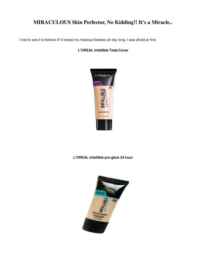 miraculous skin perfector no kidding n.