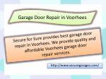 garage door repair in voorhees
